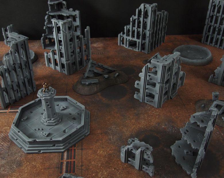 Warhammer 40k terrain fallout cityfight ruins 4 3
