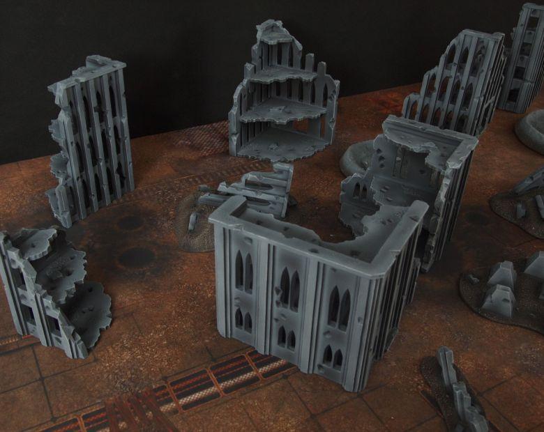 Warhammer 40k terrain fallout cityfight ruins 4 4