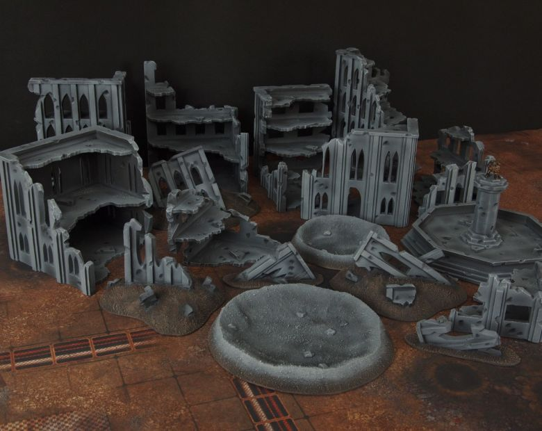 Warhammer 40k terrain fallout cityfight ruins 5 2