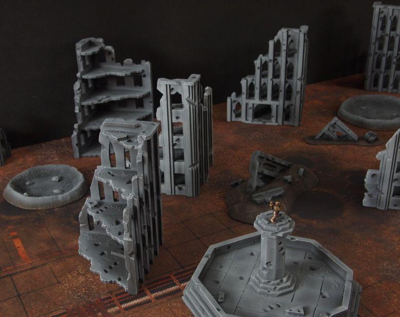 Warhammer 40k terrain fallout cityfight ruins 5 3