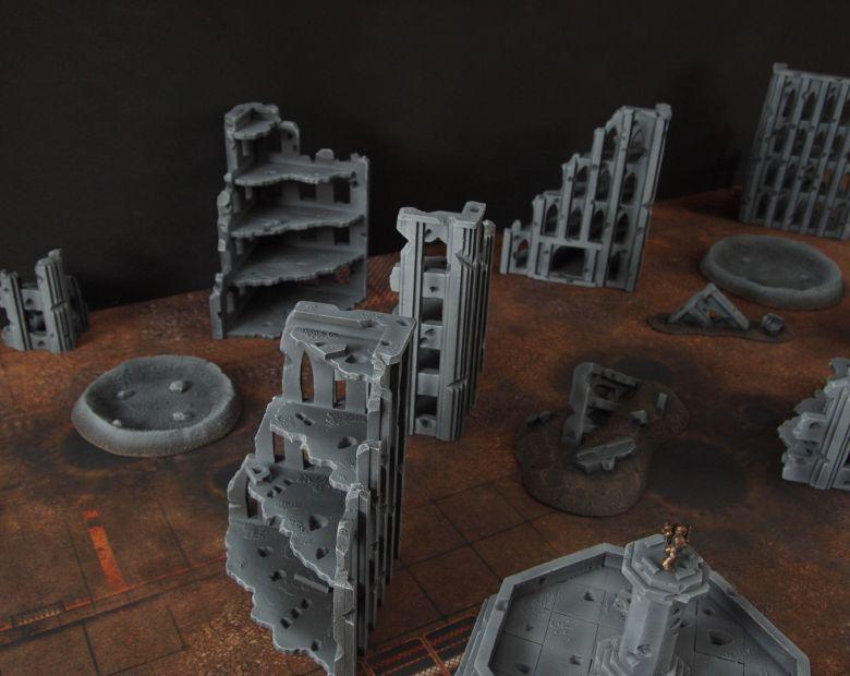 Warhammer 40k terrain fallout cityfight ruins 6 2