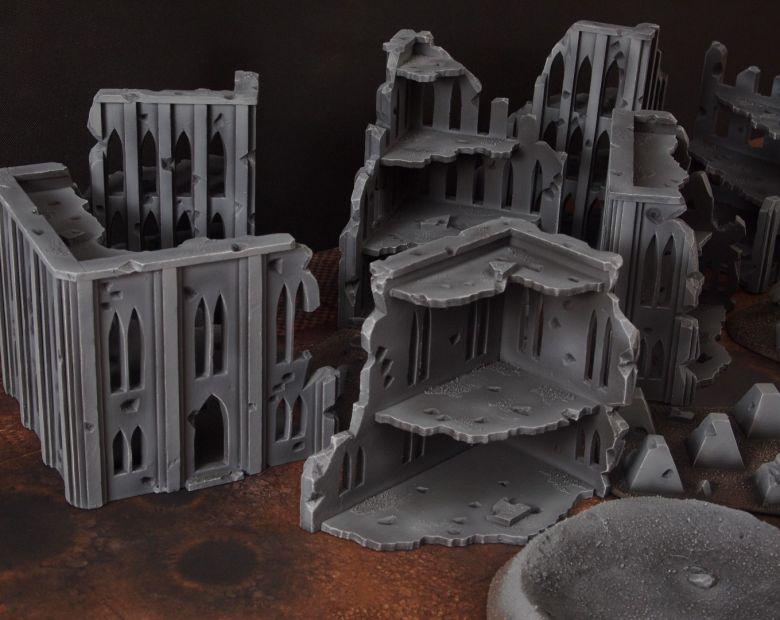 Warhammer 40k terrain fallout cityfight ruins 6 3
