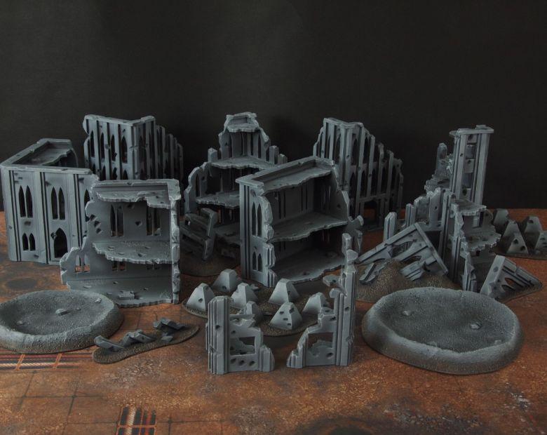 Warhammer 40k terrain fallout cityfight ruins 7 1