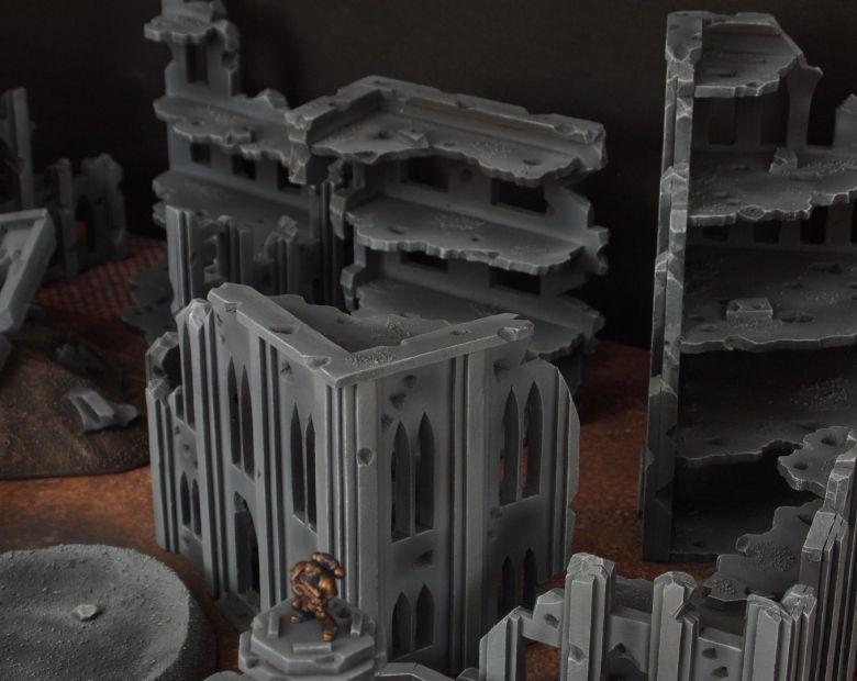 Warhammer 40k terrain fallout cityfight ruins 7