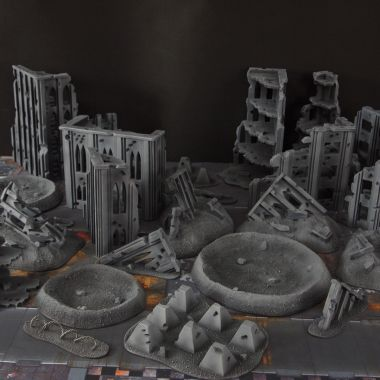 Quarantine zone cityfight 1 - WargameTerrainFactory - Miniatures War Game Terrain & Scenery
