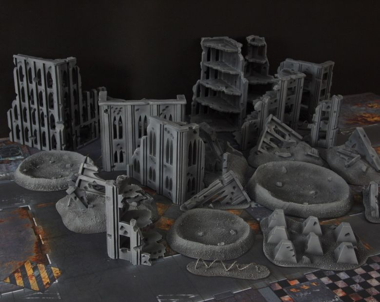 Warhammer 40k terrain fallout cityfight ruins craters 2
