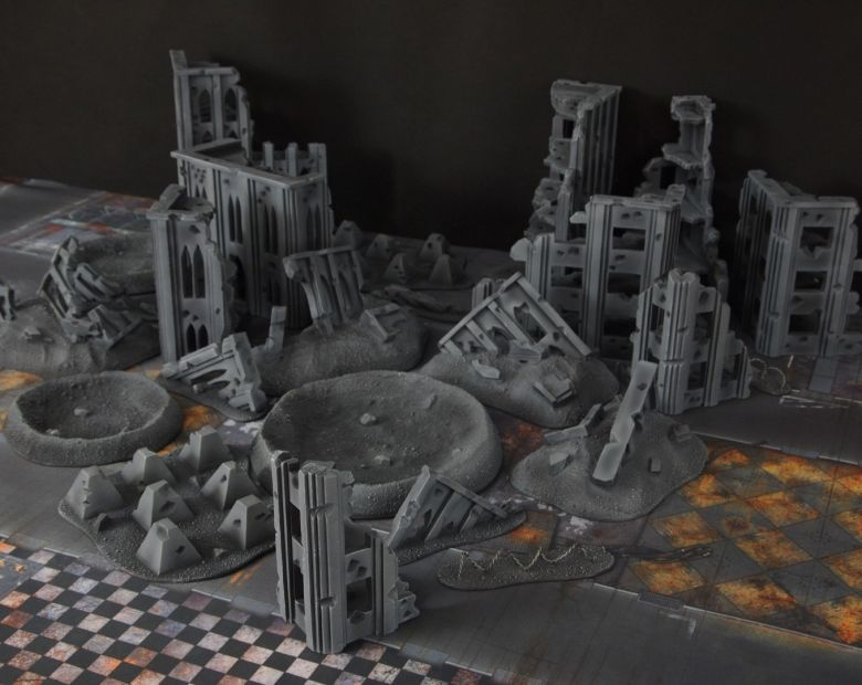 Warhammer 40k terrain fallout cityfight ruins craters 3