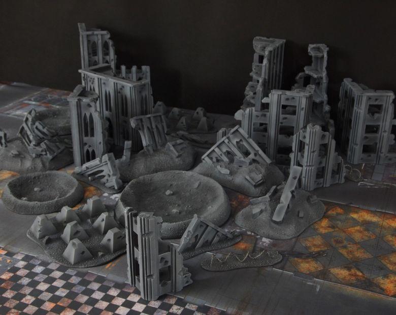 Warhammer 40k terrain fallout cityfight ruins craters 3