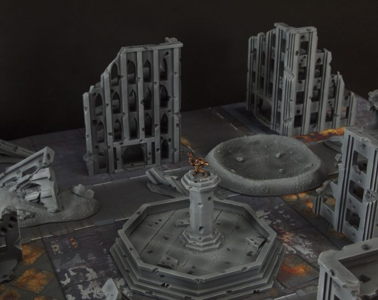 Warhammer 40k terrain fallout cityfight ruins fountain 1