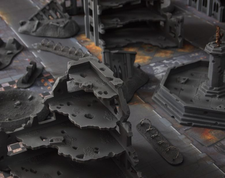 Warhammer 40k terrain fallout cityfight ruins fountain 2