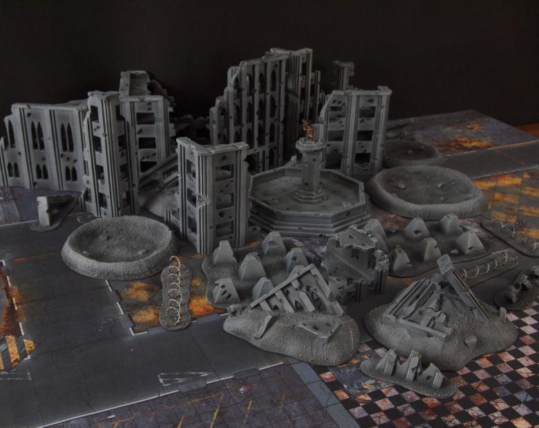 Warhammer 40k terrain fallout cityfight ruins overview 1