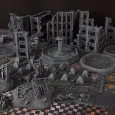 Quarantine zone cityfight 2 - WargameTerrainFactory - Miniatures War Game Terrain & Scenery