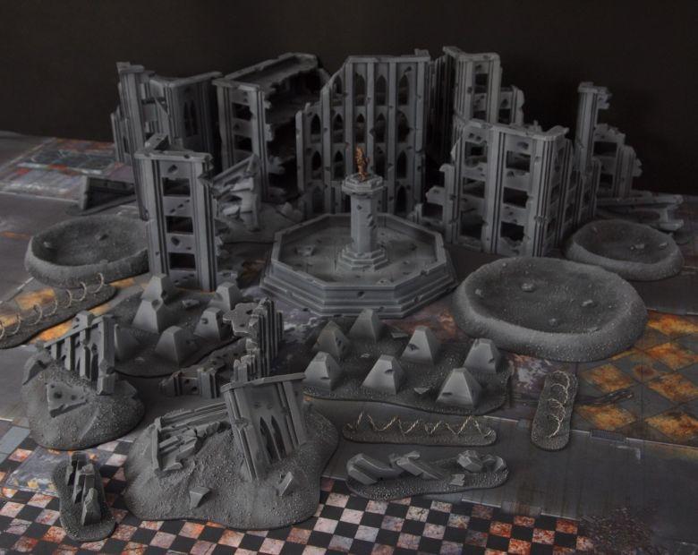 Warhammer 40k terrain fallout cityfight ruins overview 2
