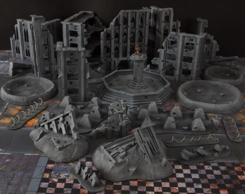 Warhammer 40k terrain fallout cityfight ruins overwiev