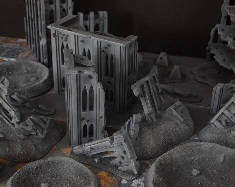 Warhammer 40k terrain fallout cityfight ruins rubble 1 1