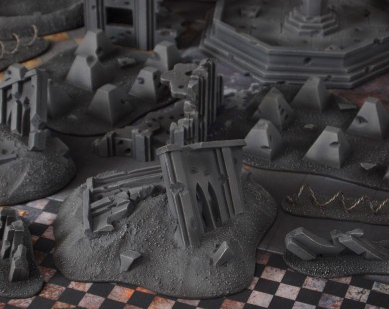 Warhammer 40k terrain fallout cityfight ruins rubble 1