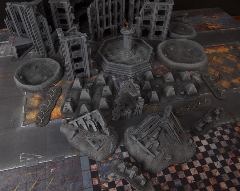 Warhammer 40k terrain fallout cityfight ruins rubble 2