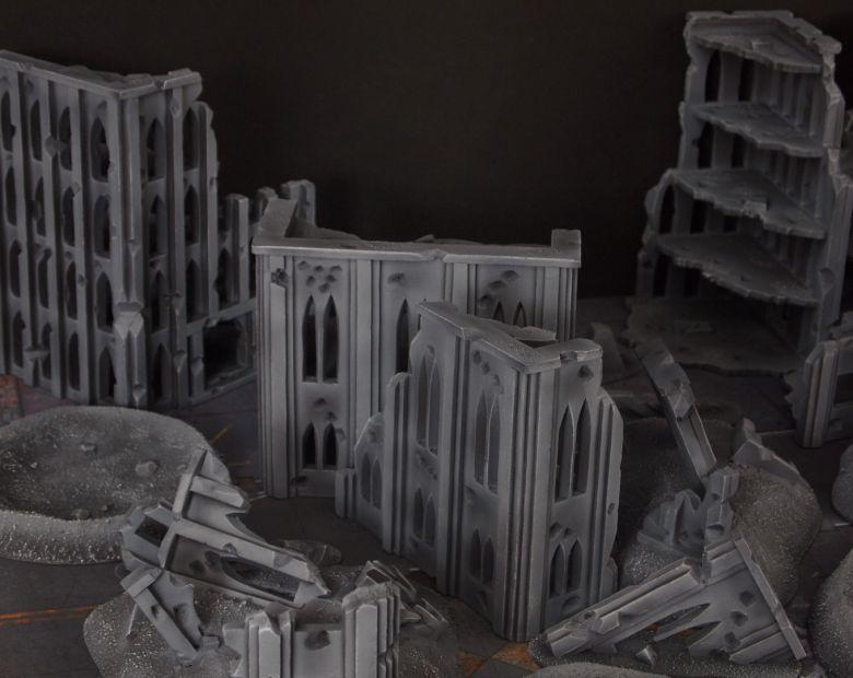 Warhammer 40k terrain fallout cityfight ruins rubblepile 1 1