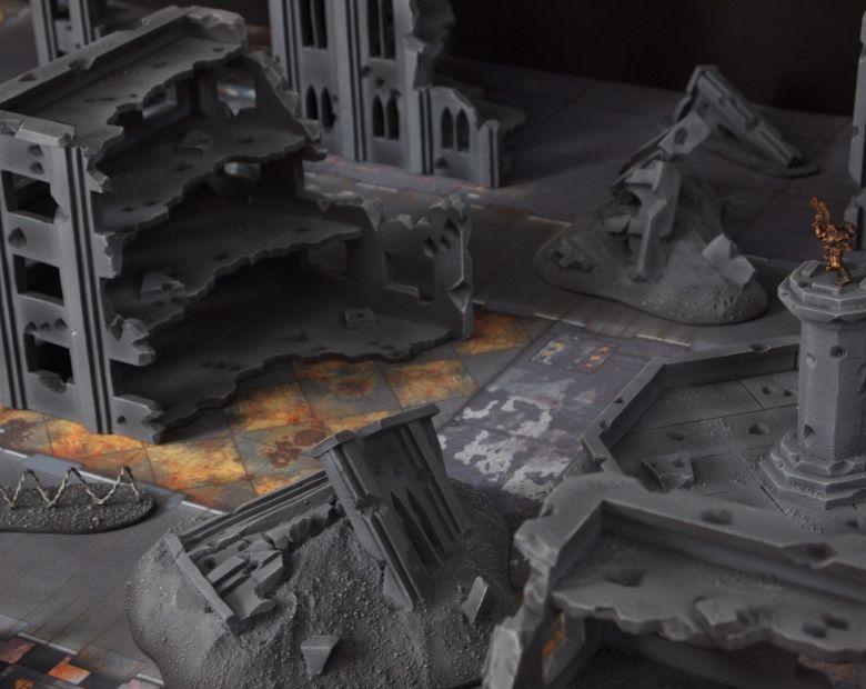 Warhammer 40k terrain fallout cityfight ruins rubblepile 1
