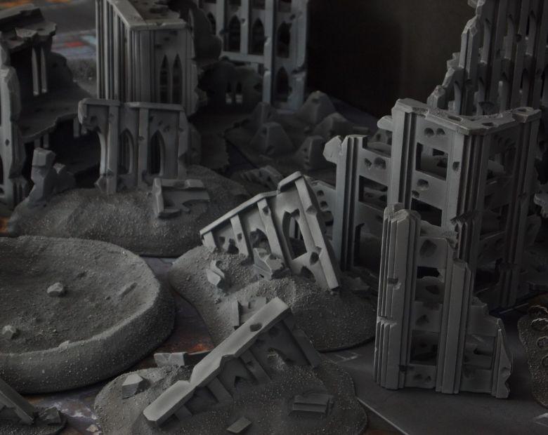 Warhammer 40k terrain fallout cityfight ruins rubblepile 2