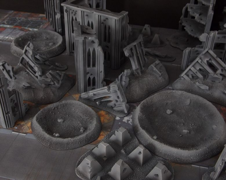 Warhammer 40k terrain fallout cityfight ruins tank traps 1