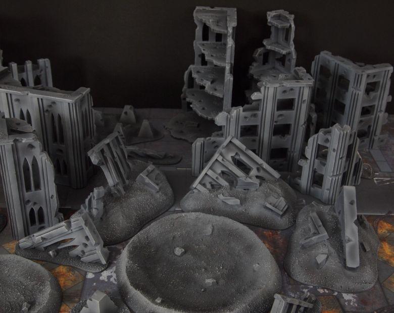 Warhammer 40k terrain fallout cityfight ruins tanktraps 2 1
