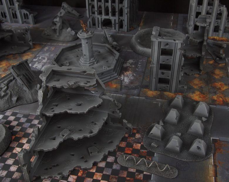 Warhammer 40k terrain fallout cityfight ruins tanktraps 2