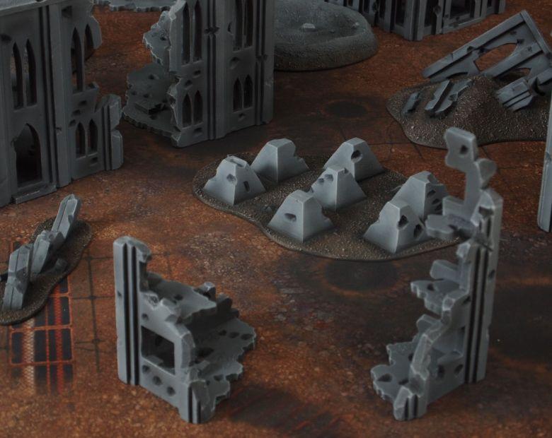 Warhammer 40k terrain fallout cityfight tank traps 1