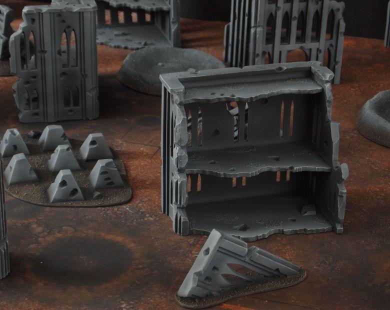 Warhammer 40k terrain fallout cityfight tank traps 2