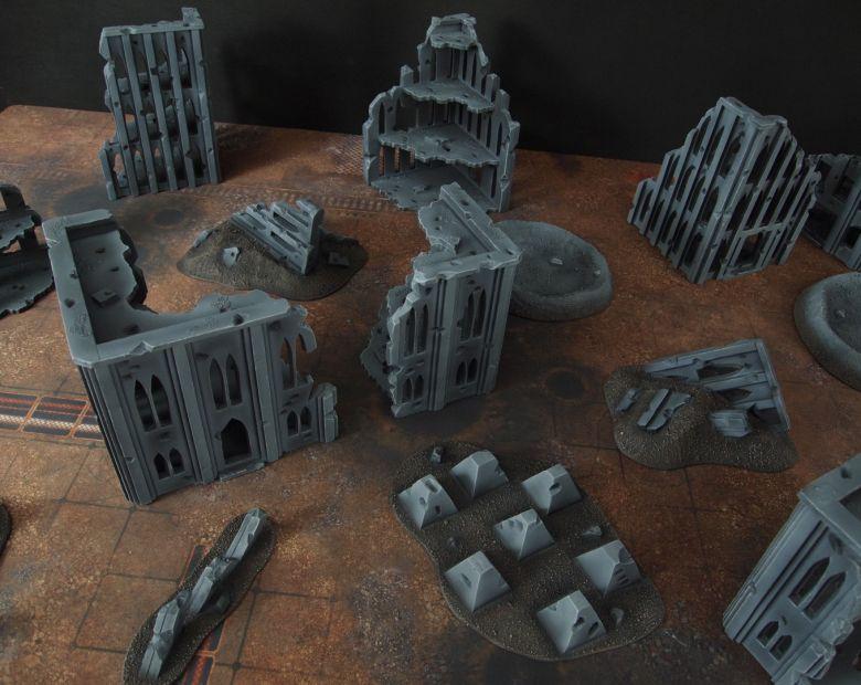 Warhammer 40k terrain fallout cityfight tank traps 3