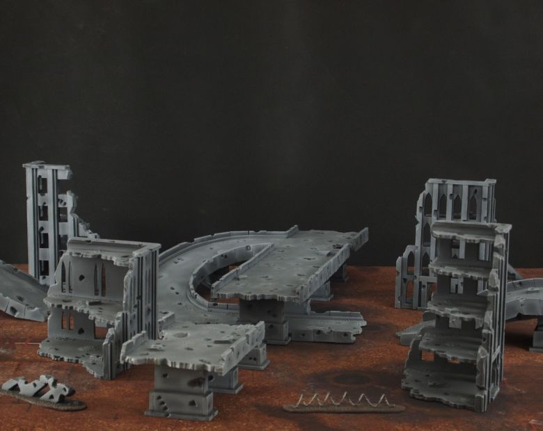 Warhammer 40k terrain fallout zone cityfight motorway highway set