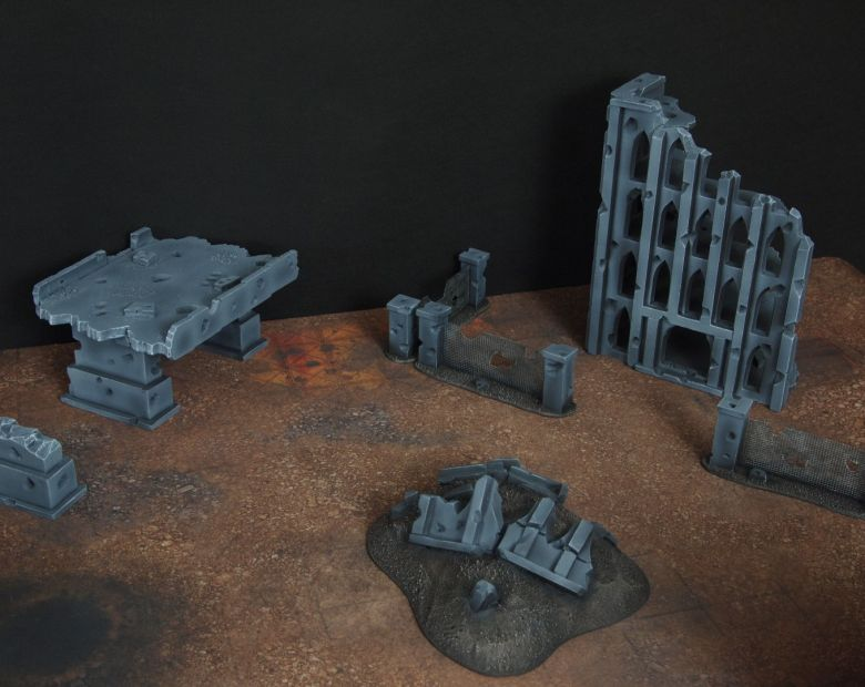 Warhammer 40k terrain fallout zone cityfight motorway highway set 10 1