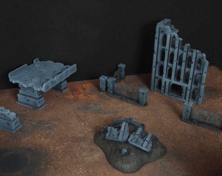 Warhammer 40k terrain fallout zone cityfight motorway highway set 10 1