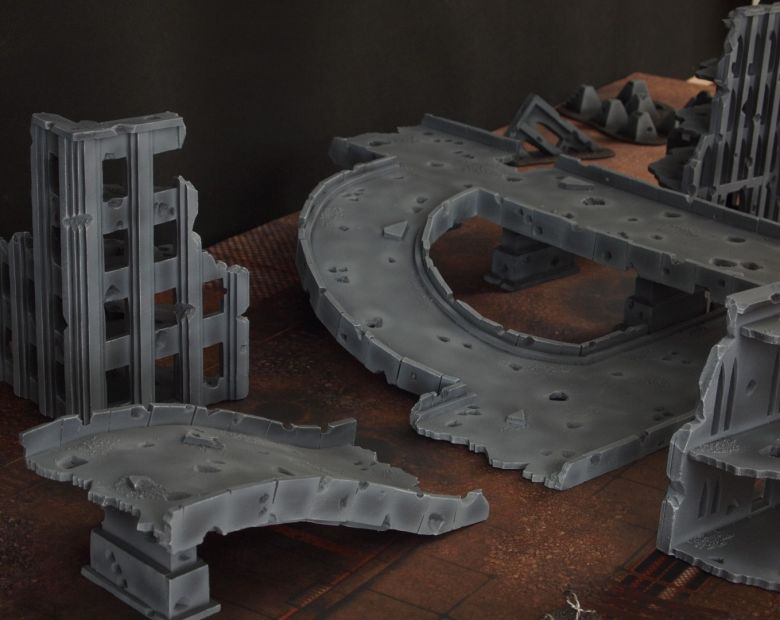 Warhammer 40k terrain fallout zone cityfight motorway highway set 10