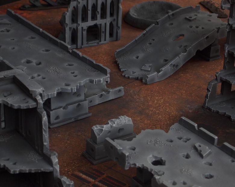 Warhammer 40k terrain fallout zone cityfight motorway highway set 11