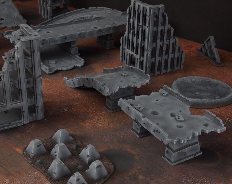 Warhammer 40k terrain fallout zone cityfight motorway highway set 12