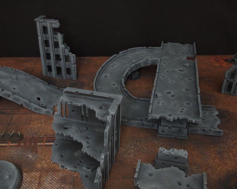 Warhammer 40k terrain fallout zone cityfight motorway highway set 14