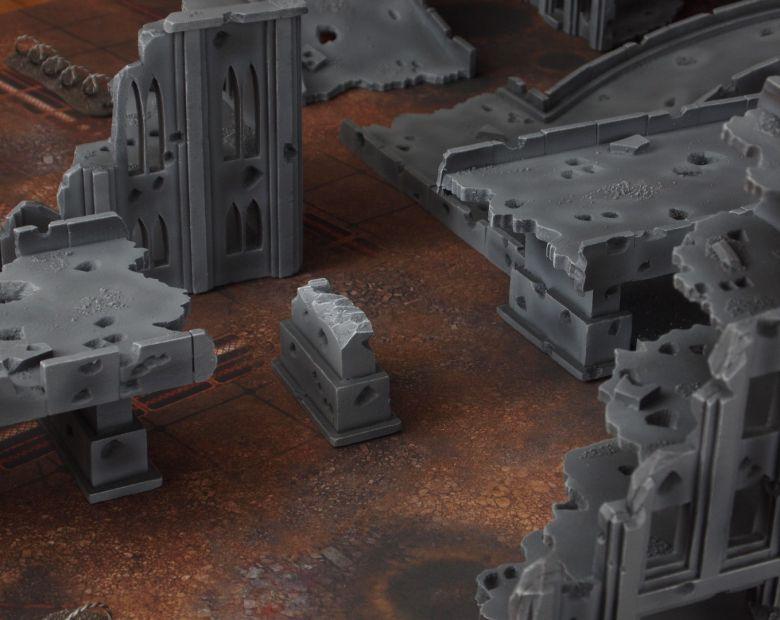 Warhammer 40k terrain fallout zone cityfight motorway highway set 15