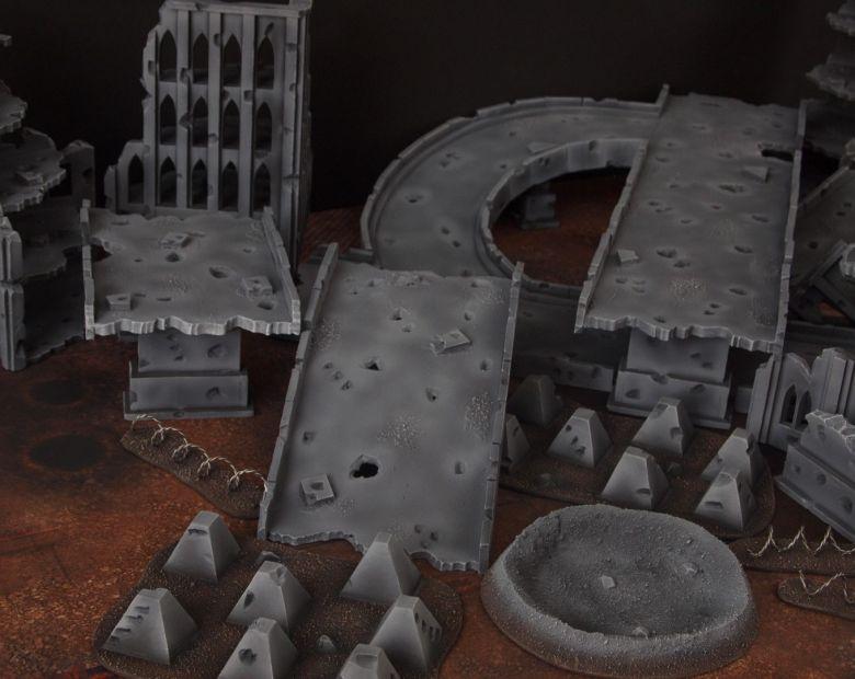 Warhammer 40k terrain fallout zone cityfight motorway highway set 16