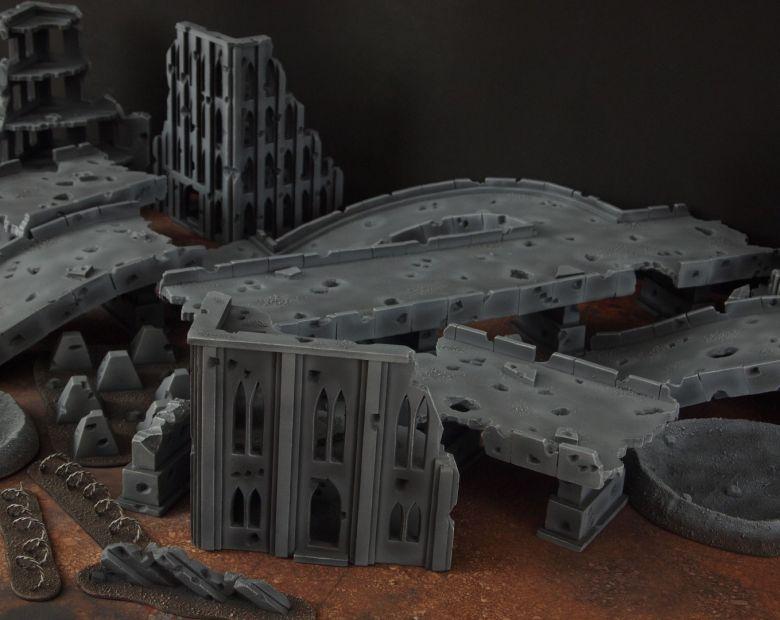 Warhammer 40k terrain fallout zone cityfight motorway highway set 17