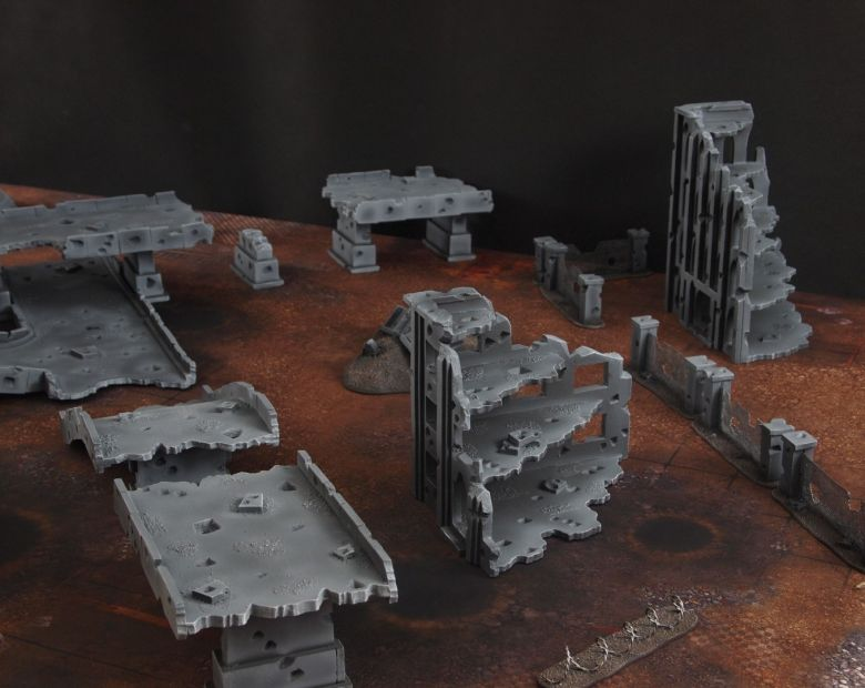 Warhammer 40k terrain fallout zone cityfight motorway highway set 2 1