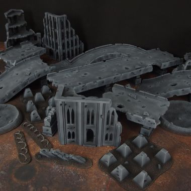Motorway citifight 2 - WargameTerrainFactory - Miniatures War Game Terrain & Scenery