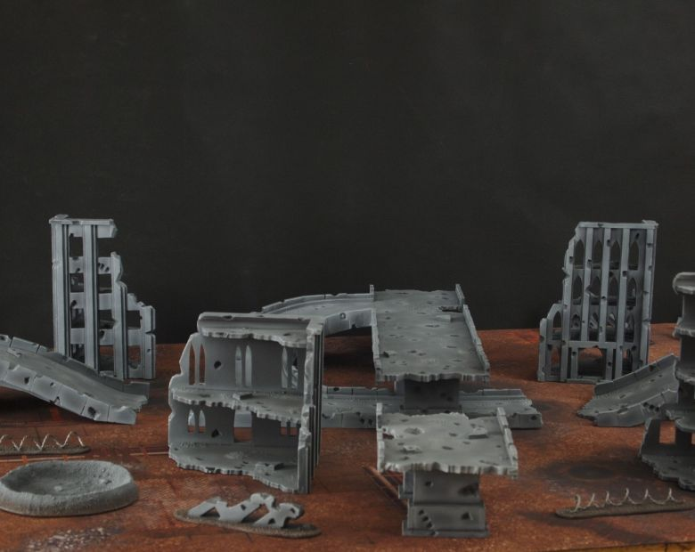 Warhammer 40k terrain fallout zone cityfight motorway highway set 5