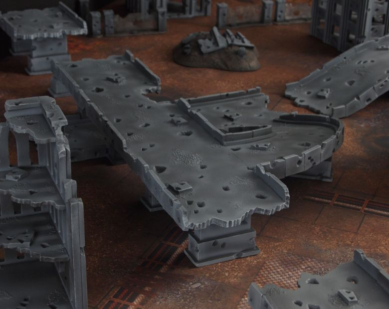 Warhammer 40k terrain fallout zone cityfight motorway highway set 6 1