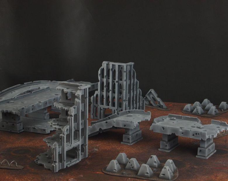 Warhammer 40k terrain fallout zone cityfight motorway highway set 6