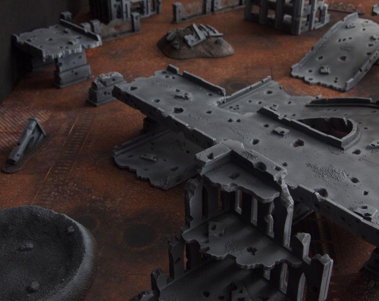 Warhammer 40k terrain fallout zone cityfight motorway highway set 7 1