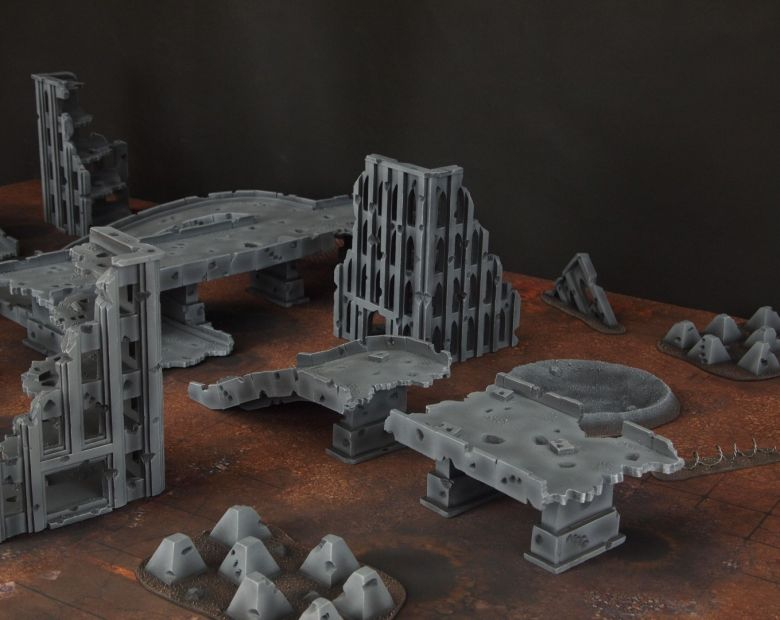 Warhammer 40k terrain fallout zone cityfight motorway highway set 7