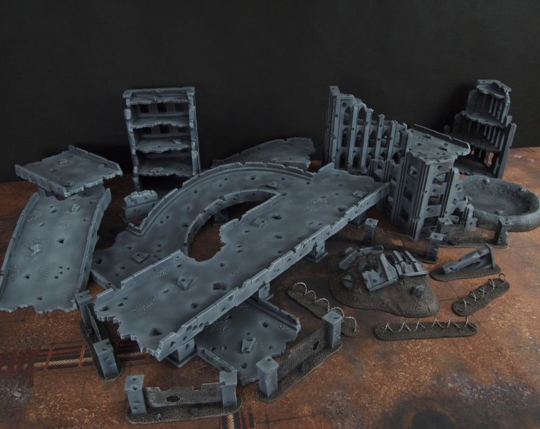Warhammer 40k terrain fallout zone cityfight motorway highway set