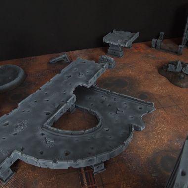 Motorway citifight 1 - WargameTerrainFactory - Miniatures War Game Terrain & Scenery
