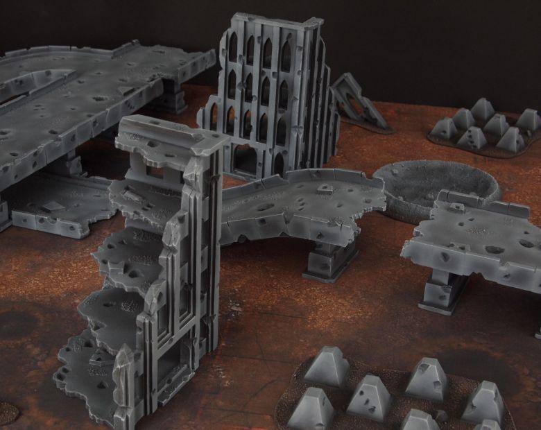 Warhammer 40k terrain fallout zone cityfight motorway highway set 8